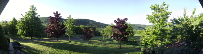 View from the deck. Nice morning !!! Chambers Settlement Road, Waterford, NB