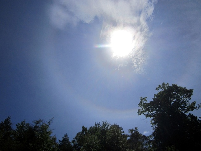 Double Sun Halo on Summer Solstice Barrie, ON