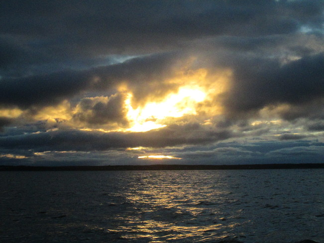 Sun trying hard to break through the clouds L'Ardoise, NS