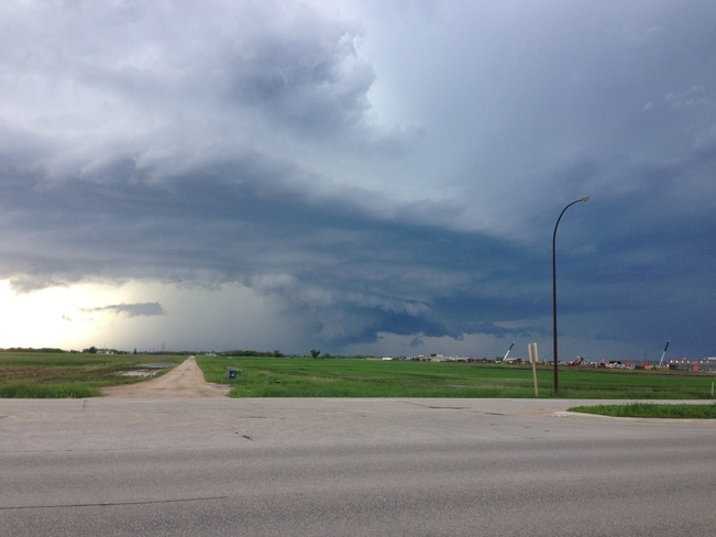 Massive storm clouds East St. Paul, Manitoba Canada