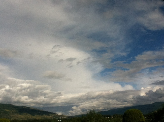 South Eastern skyscape South Vernon, British Columbia Canada