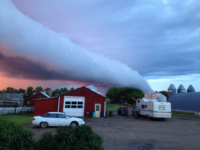 weird cloud Dinsmore, Saskatchewan Canada