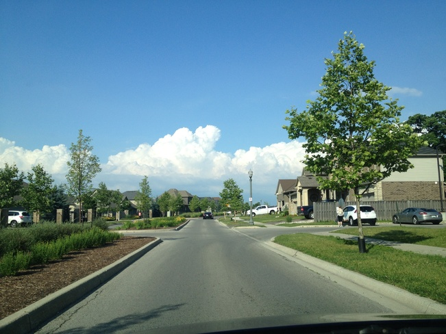 Puffy 'Mountain' Clouds! London, Ontario Canada