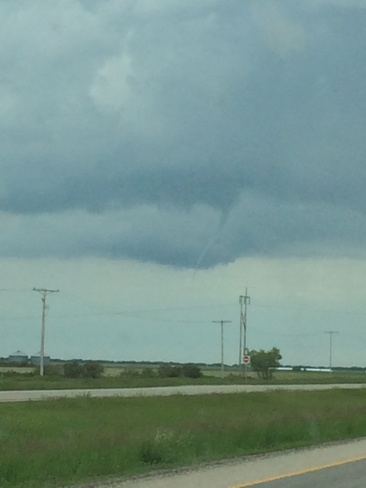 Funnel Cloud/ Thursday pm Moose Jaw, Saskatchewan Canada