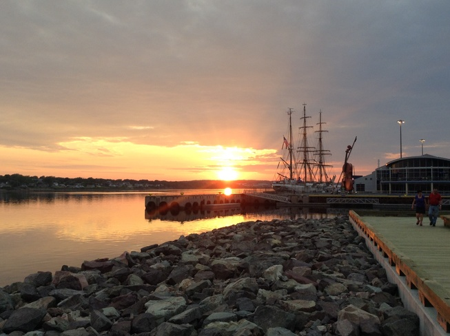 Sunset at the Wharf Sydney, Nova Scotia Canada