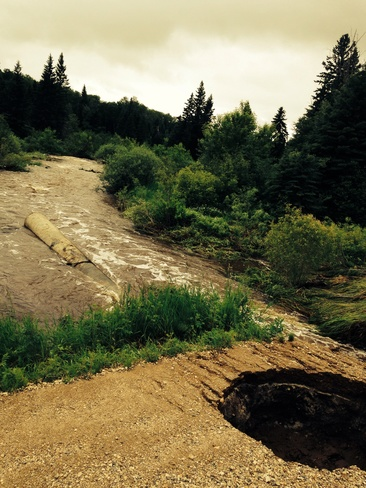 3 foot culvert washed out Preeceville, Saskatchewan Canada
