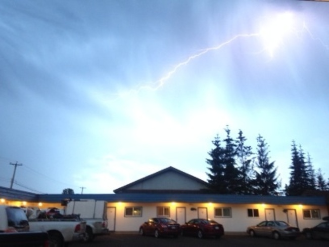 Lightning in Smithers Smithers, British Columbia Canada
