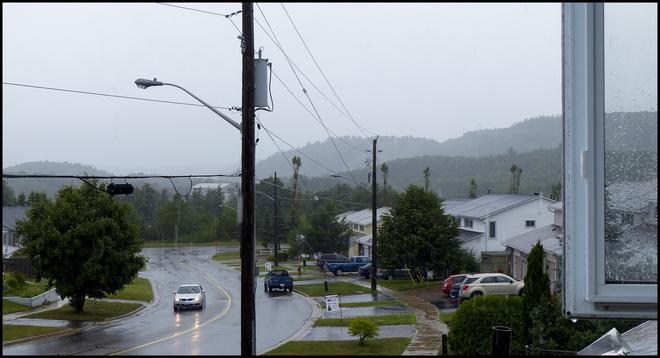 Afternoon rain, Elliot Lake.
