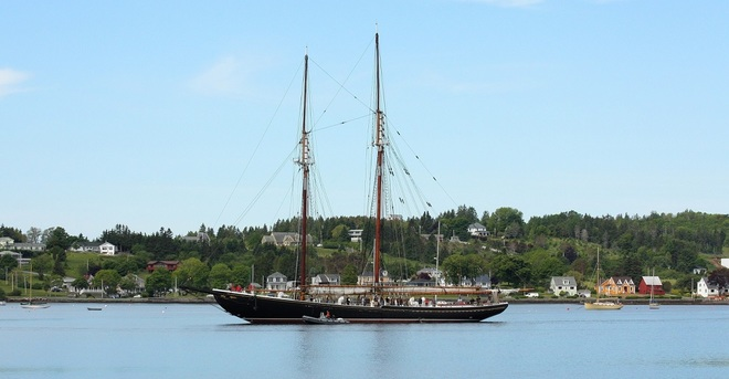 Bluenose ll heading out for sea trials Lunenburg, NS