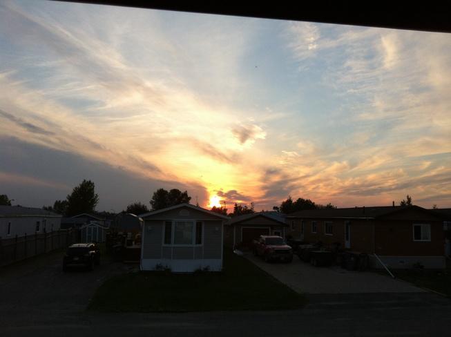 sunset Thompson, Manitoba Canada
