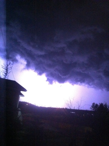 lightning Fort McMurray, Alberta Canada