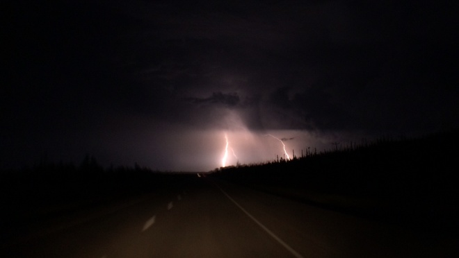 lightning south on 63 Fort McMurray, Alberta Canada