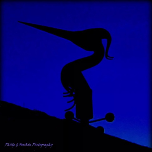 Heron Sculpture Silhouette Nelson, British Columbia Canada