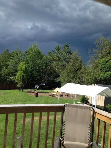 storm comming in Cobourg, Ontario Canada