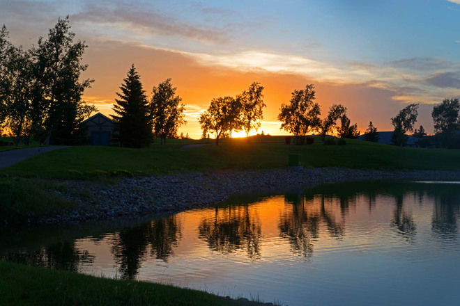 Memorable Summer Sunset Lethbridge, Alberta Canada