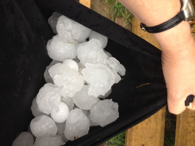 Hailstorm in Porcupine,ON Porcupine, Timmins, ON