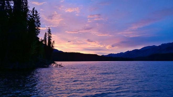 Sunset at Muncho Muncho Lake, BC