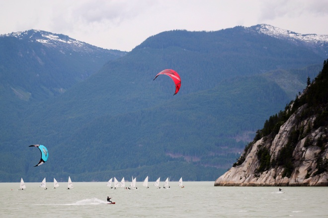 Kite Boarding in Howe Sound, Squamish, BC Line East, Laurel, ON, Canada