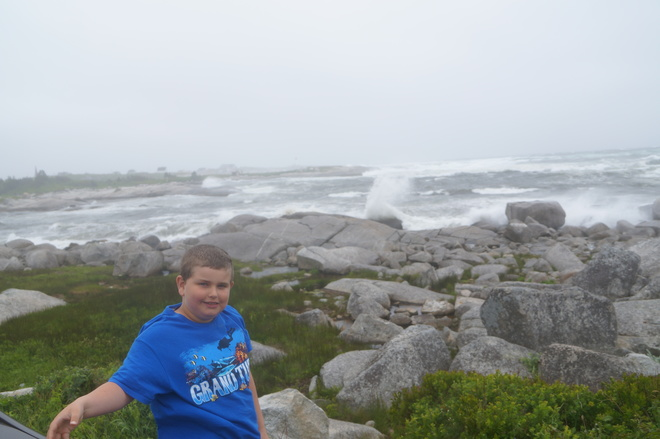 first tropical storm july 5 2014 for atlantic canada in peggeys cove Peggys Cove, NS