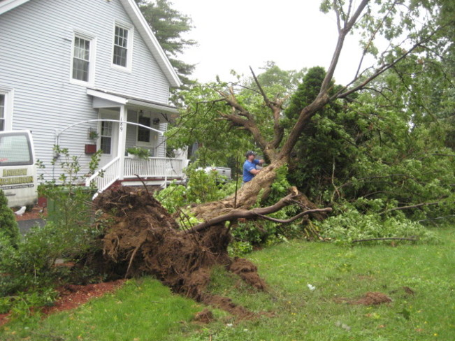 damage from Hurricane Arthur Bridgewater, NS