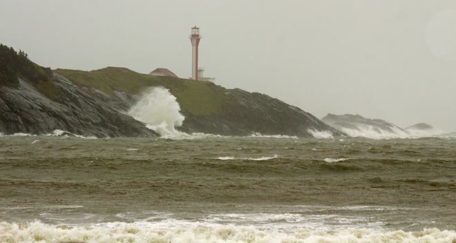 Cape Forchu Lighthouse during Post-Tropical Storm Arthur Cape Forchu, NS