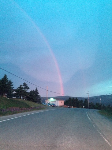 double rainbow Pouch Cove, Newfoundland and Labrador Canada