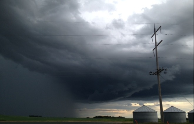 More Wicked Storm Clouds. Crossfield, AB