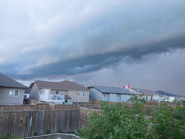 Storm clouds over Warman, Sask. July 6th, 2014 Warman, SK