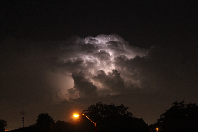 July 7 2014 - storm clouds over Meriton St. Catharines, ON