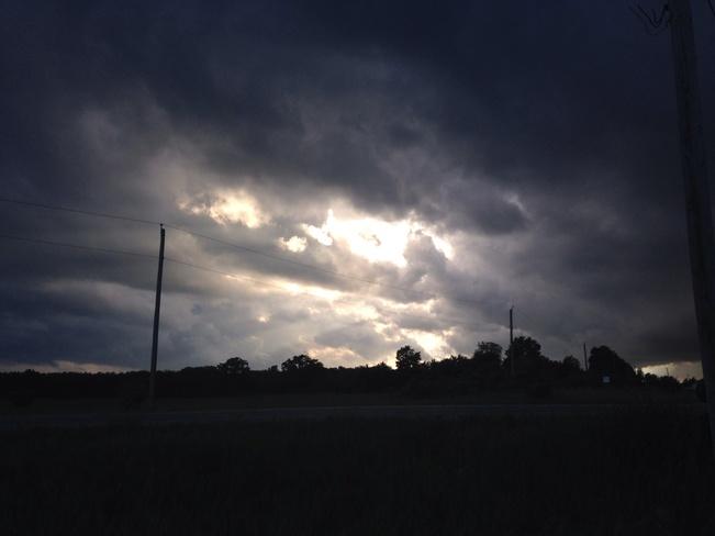 storm clouds Brantford, Ontario Canada