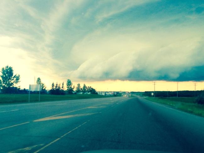 crazy storm clouds Red Deer, Alberta Canada