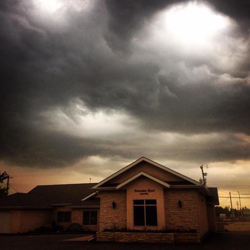 Fast unusual storm blew in over vegreville, Alberta Canada Vegreville, AB