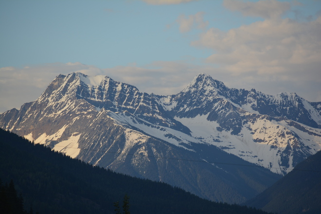 a clear day in the mountains British Columbia