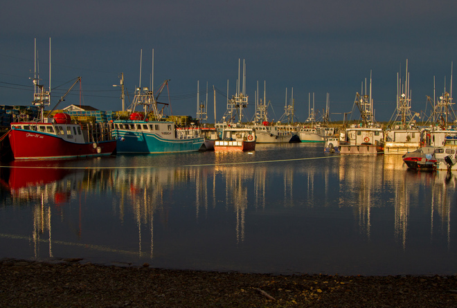 Evening Light at Pinkneys' Point Wharf 2942 Melbourne Road, Arcadia, NS B0W 1B0, Canada