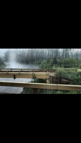 Mist on the Mackay River. Fort McKay 174, Alberta Canada