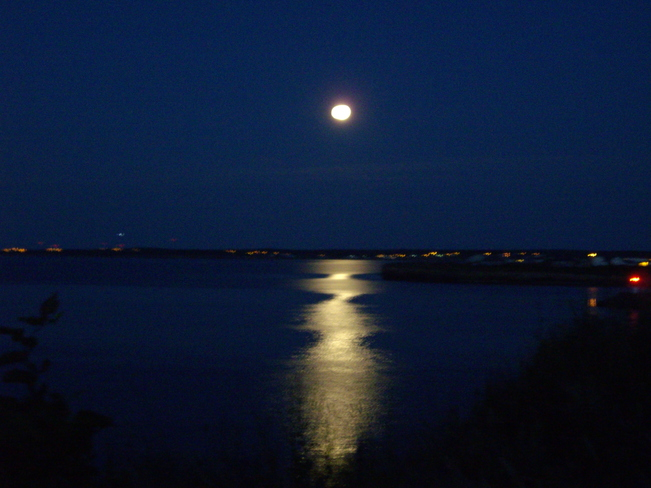 supermoon over the bay Glace Bay, NS