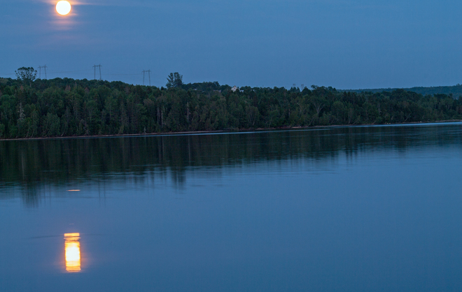 Supermoon at Mactaquc Fredericton, NB