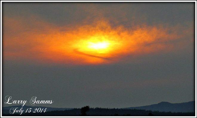 """""""Fire In Sky"""" South Brook, Newfoundland and Labrador Canada"""