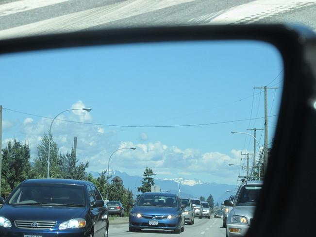 rear-view clouds Surrey, BC