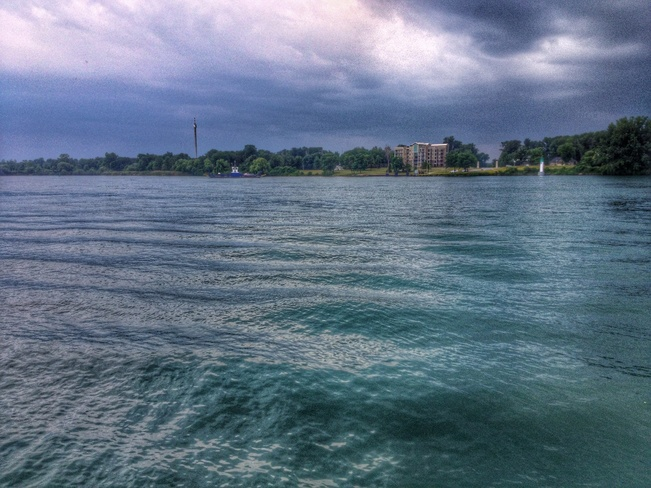 Clouds moving in Amherstburg, Ontario Canada