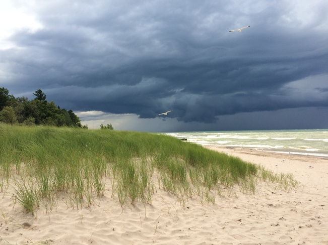The change in the weather in Grand Bend on July 15, 2014 Grand Bend, Lambton Shores, ON