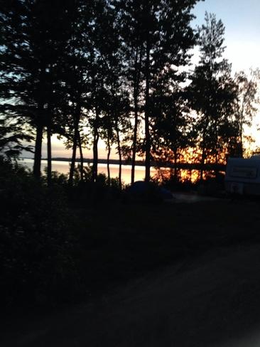 beautiful sunset Winnipeg, Manitoba Canada