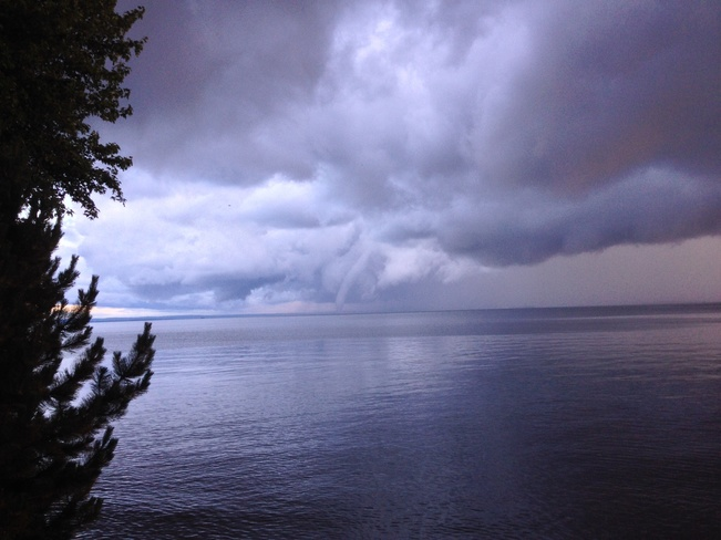 Waterspout? Lake Nipissing, North Bay, On. 979 Leask Avenue, North Bay, ON P1A 1V4, Canada