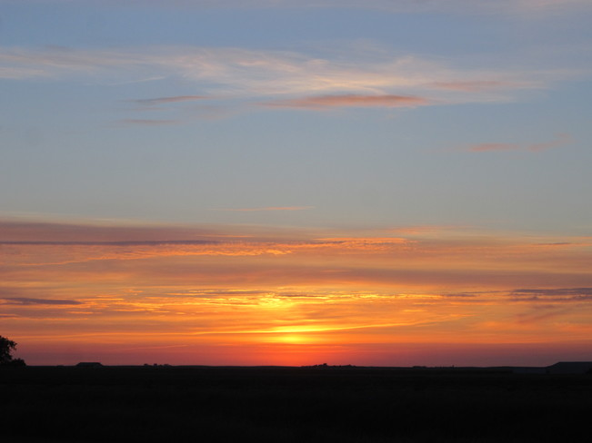 July Sunset Maple Creek, SK