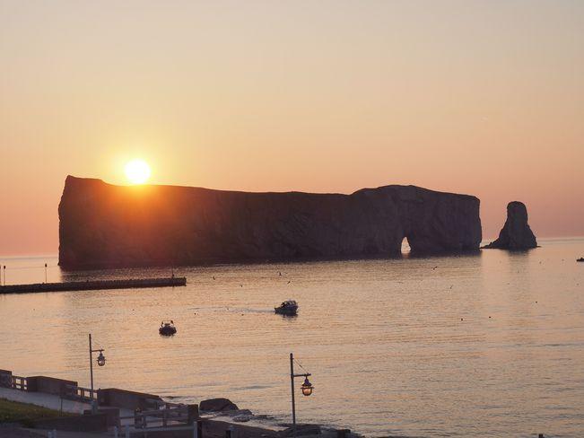 Sunrise over Percé Rock, Quebec Percé, QC