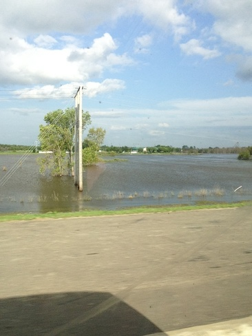 flood from assinboine river :0 Brandon, Manitoba Canada