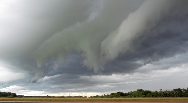 Amazing and scary clouds Nisku, AB