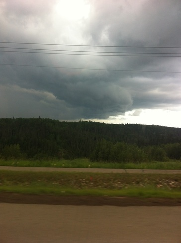 rain clouds Fort McMurray, Alberta Canada