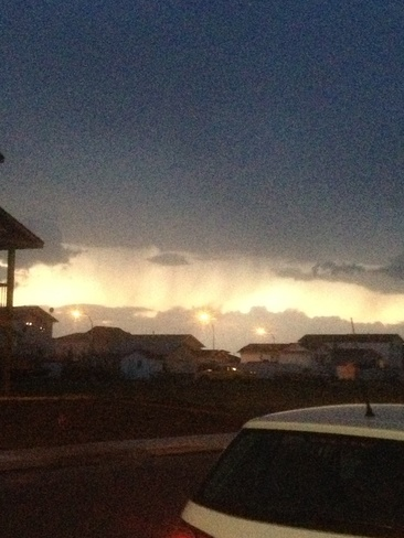 a storm coming to brooks Brooks, Alberta Canada