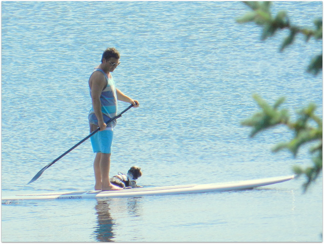 Paddle Boarding on Echo Lake Resort Village of B-Say-Tah, Fort Qu'Appelle, Saskatchewan
